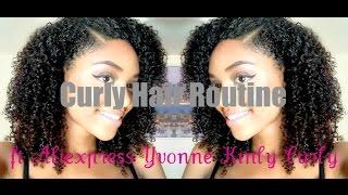 getlinkyoutube.com-Curly Hair Routine|Aliexpress Yvonna Kinky Curly
