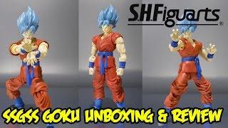 getlinkyoutube.com-Bandai Tamashii Nations SH Figuarts Super Saiyan God Super Saiyan (SSGSS) Goku Unboxing & Review