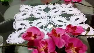 getlinkyoutube.com-flor de 4 pétalos🌸para mantel ó camino de mesa