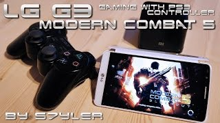 getlinkyoutube.com-Modern Combat 5 / LG G3 2K Gaming with PS3 Controller Test