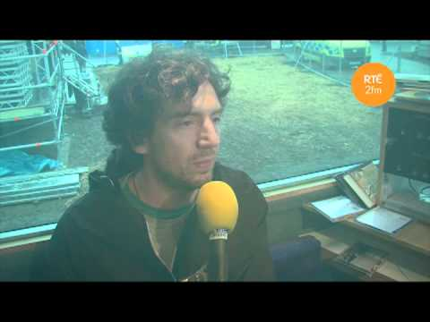 Cormac Battle chats to Gary Lightbody of Snow Patrol at Phoenix Park 2012