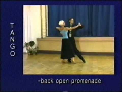 Tango dance steps 21. Back open promenade