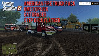 getlinkyoutube.com-Farming Simulator 2015 Mods- American Fire Truck Pack, GMC Topkick, Cat Grader and More!
