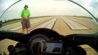 Rickey Gadson Ninja H2 standing mile top speed World record run 6-6-2015