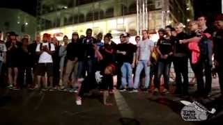 getlinkyoutube.com-IBE 2015  - Underground Kid Cypher - B-Girl Terra VS  B-boy Cis