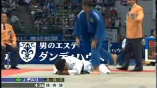 getlinkyoutube.com-JUDO 2005 World Championships: Masato Uchishiba 内柴 正人 (JPN) - Joao Derly (BRA)