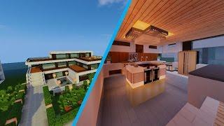 getlinkyoutube.com-ماين كرافت #اثاث البيت المودرن minecraft  House building