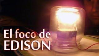 getlinkyoutube.com-Como hacer un foco casero │El foco de Edison │ Experimento