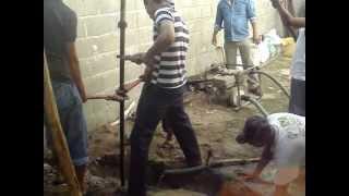 Realización de Pozo de agua a 30 m. en Comalcalco Tabasco