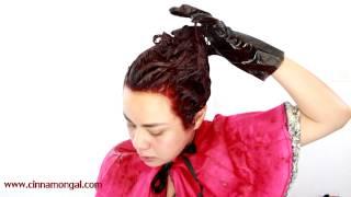 getlinkyoutube.com-Cinnamongal for Garnier Olia ทำสีผมเองด้วยครีมแบบน้ำมัน [ODS] ไม่มีแอมโมเนีย+แต่งหน้าโทนม่วงแดง