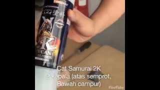 getlinkyoutube.com-Trik AirBrush Samurai Paint Cat 2K 2 Komponen Aerosol Tebal Dan Kilat
