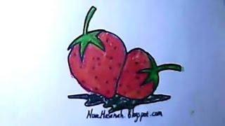 getlinkyoutube.com-cara menggambar untuk anak   strawberry