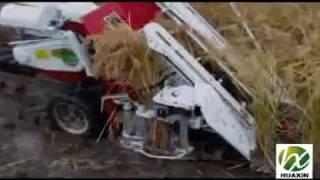 getlinkyoutube.com-HXR-50 reaper & binder combine harvester
