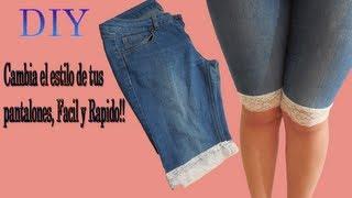 getlinkyoutube.com-♥DIY Cambia el estilo de tus pantalones Facil y Rapido ! ♥ ♥