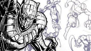 getlinkyoutube.com-DYNAMIC FIGURE DRAWING! - Comic Art Pose Tutorial (Feat. TheBoxOfficeArtist)