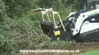 getlinkyoutube.com-Brushwood Bobcat forestry cutter
