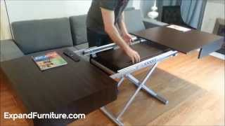 getlinkyoutube.com-Wall bed sofa and convertible box coffee table demonstration from expand furniture