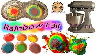 getlinkyoutube.com-Giant Rainbow Cupcake Fail - Baking My Little Pony Rainbow Dash Birthday Cake