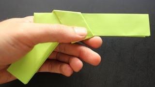 getlinkyoutube.com-How to make a paper gun origami: instruction| Colt