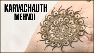 getlinkyoutube.com-EASY MEHNDI DESIGN For KARVACHAUTH That You Can Try At Home