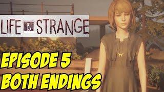getlinkyoutube.com-Life is Strange Episode 5 Both Endings All Sacrifice Chloe & Save Arcadia Bay Polarized