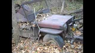 getlinkyoutube.com-Willys CJ3A Jeep-a-trench found in the woods