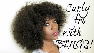 getlinkyoutube.com-How To: Curly Afro Wig With Bangs ♥ Affordable Bohemian Hair