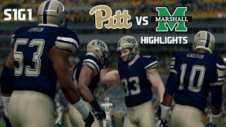 getlinkyoutube.com-NCAA Football | Pitt Panthers Dynasty | 2016 S1G1 vs Marshall | Highlights