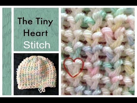 LOOM KNITTING STITCHES Tiny Heart Stitch on a Knitting Loom