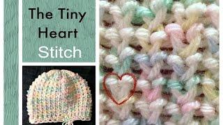 getlinkyoutube.com-LOOM KNITTING STITCHES Tiny Heart Stitch on a Knitting Loom