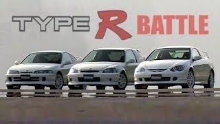 getlinkyoutube.com-[ENG CC] Integra Type R DC2 vs. DC5 vs. Civic EK9 battle Ebisu 2001