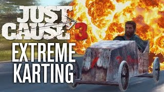 getlinkyoutube.com-EXTREME KARTING!!! | Just Cause 3 Funny Moments
