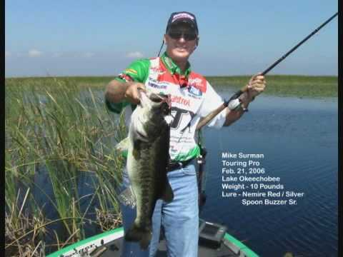 Huge 10lb Bass Caught on Lake Okeechobee with a Nemire Spoon Buzzer Buzz Bait