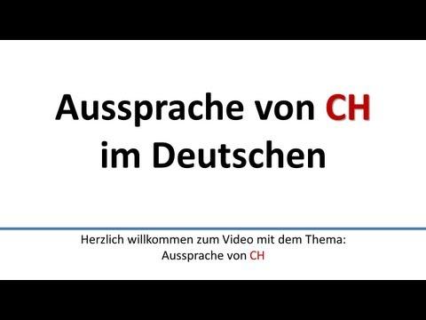 Deutsch: Aussprache von CH (deutsche Untertitel)/Pronunciation of CH (German subtitles)