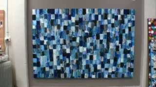 getlinkyoutube.com-How to create large acrylic abstract art using textured paint demonstraction