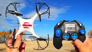 getlinkyoutube.com-Eachine H8C Mini Camera Drone Flight Test Review