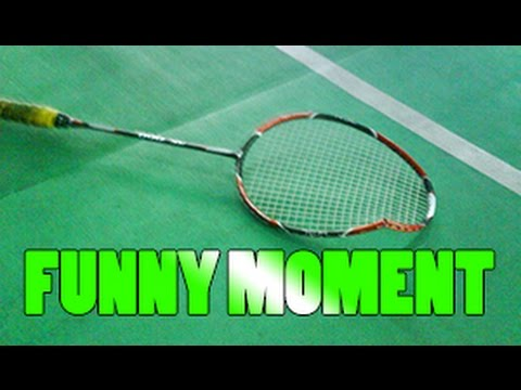 BADMINTON FUNNY MOMENT! HE BROKE HIS RACKET DURING HIS MATCH