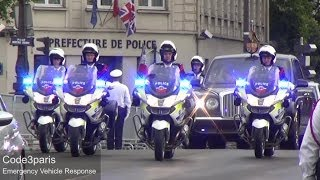 getlinkyoutube.com-Police Motorcade Queen of England in Paris