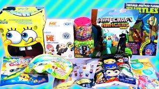 getlinkyoutube.com-Surprise Blind Bag - My LittlePony, TMNT, Minecraft, SpongeBob, DC Comics, Funko, Yoohoo and More!