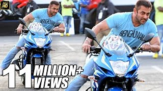 Salman Khan Sports Bike STUNT Encouragement On Mumbai Roads