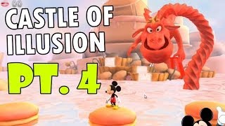 getlinkyoutube.com-Let's Play: Castle of Illusion starring Mickey Mouse' pt. 4 The Library - Red Licorice Dragon Fight