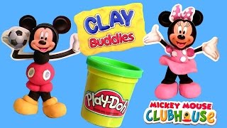getlinkyoutube.com-ClayBuddies Mickey Mouse Clubhouse with Minnie Mouse Play-Doh Surprise Eggs Huevos Sorpresa