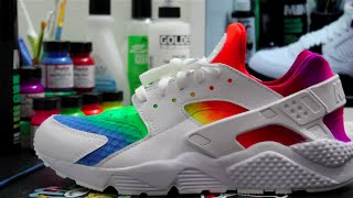getlinkyoutube.com-Custom Rainbow Huarache's