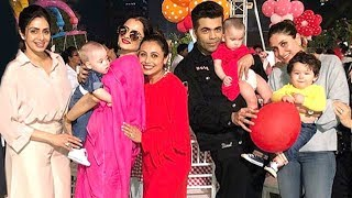 Rani Mukherjee's Daughter Adira's 2nd Birthday Party 2017 - Taimur,Kareena,SRK,Abram