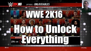 WWE 2K16 - How To Unlock Everything (Tutorial)