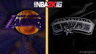 getlinkyoutube.com-NBA 2K16 Gameplay - Los Angeles Lakers vs San Antonio Spurs - Full Game [ HD ]