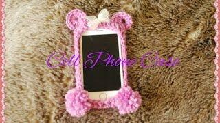getlinkyoutube.com-iPHONE CASE PURPLE BEAR crochet Cell Phone Case