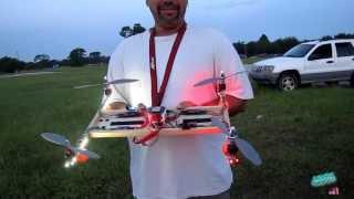 getlinkyoutube.com-Homemade H-Quadcopter - Large Version Maiden Flight Crash