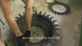 getlinkyoutube.com-Клумба из покрышки / DIY Flower bad tires