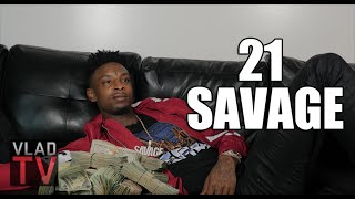 "getlinkyoutube.com-21 Savage on Turning ""Savage"" After Getting Shot in the Neck & Losing Friend"